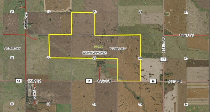 FOR SALE 960 Acres  McPherson County SD
