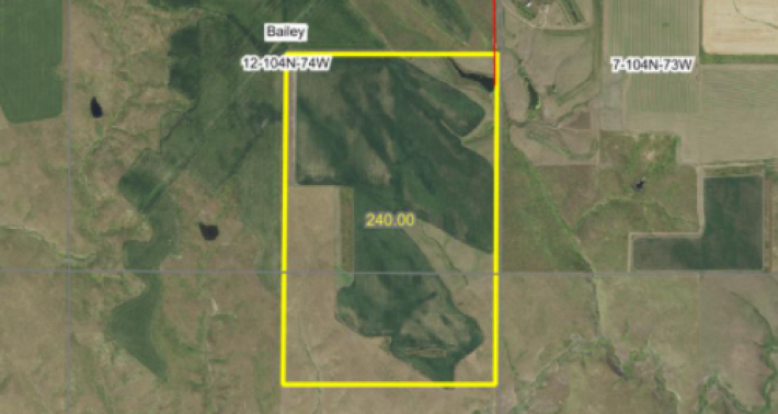 For Sale 240 Acres Lyman County Near Reliance SD