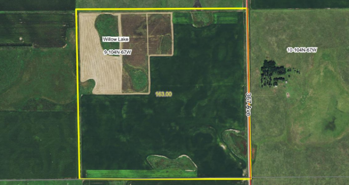 Sale Pending! +/- 163 Acres Brule County Near Kimball SD