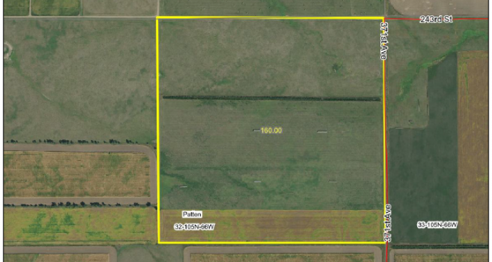 For Sale 160 acres Aurora County North of White Lake SD
