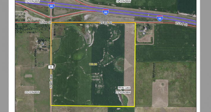 For Sale +/- 159 Acres Aurora County Just South Of I-90 White Lake SD Exit