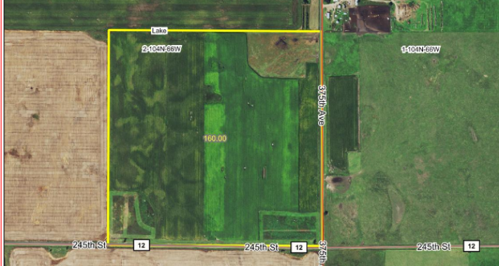 Sale Pending +/- 160 Acres Aurora County North East Of White Lake SD